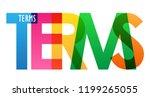 terms colorful letters banner | Shutterstock .eps vector #1199265055