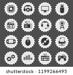 hi tech web icons stylized... | Shutterstock .eps vector #1199266495
