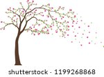 beautiful tree branch with... | Shutterstock .eps vector #1199268868