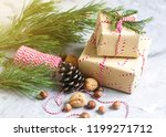 christmas gift boxes decoration ... | Shutterstock . vector #1199271712