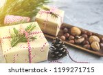 christmas gift boxes decoration ... | Shutterstock . vector #1199271715
