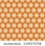 brown hexagons on beige ... | Shutterstock .eps vector #1199275798