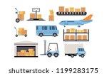merchandise warehouse and... | Shutterstock .eps vector #1199283175