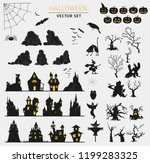halloween holiday info graphic... | Shutterstock .eps vector #1199283325