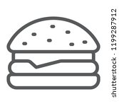 hamburger line icon  food and... | Shutterstock .eps vector #1199287912
