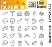 food and drink line icon set ... | Shutterstock .eps vector #1199290828