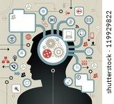 social network  communication... | Shutterstock .eps vector #119929822