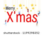 2019 merry christmas and happy...   Shutterstock .eps vector #1199298352
