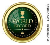 world record badge | Shutterstock .eps vector #1199298598