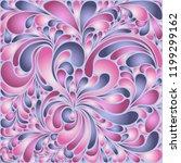 silk texture fluid shapes ... | Shutterstock .eps vector #1199299162