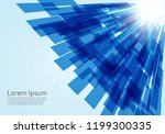 abstract technology lines... | Shutterstock .eps vector #1199300335