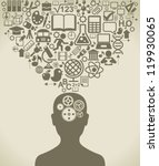 the concept of the learning... | Shutterstock .eps vector #119930065