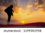double exposure silhouette of... | Shutterstock . vector #1199301958