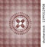 crossed bandage plaster icon... | Shutterstock .eps vector #1199312908