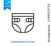 diaper icon in trendy flat... | Shutterstock .eps vector #1199313715