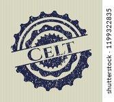 Stock vector blue celt rubber grunge stamp 1199322835