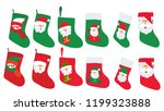 isolated set of christmas socks ... | Shutterstock .eps vector #1199323888