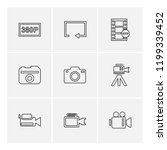 set of 9 icons  for web ... | Shutterstock .eps vector #1199339452