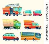public passenger transport cars ... | Shutterstock . vector #1199339575