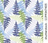 fern frond herbs  tropical... | Shutterstock .eps vector #1199347405