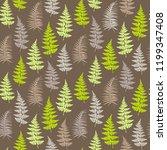 fern frond herbs  tropical... | Shutterstock .eps vector #1199347408