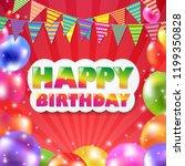 color balloon banner | Shutterstock . vector #1199350828