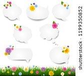 speech bubble big set with... | Shutterstock . vector #1199350852