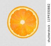 orange slice with transparent... | Shutterstock . vector #1199350882