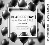 black friday sale white promo... | Shutterstock .eps vector #1199352505