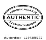 grunge black authentic word... | Shutterstock .eps vector #1199355172