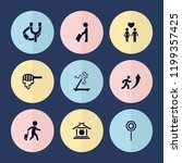 set of 9 stick filled icons... | Shutterstock .eps vector #1199357425