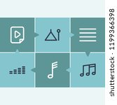 sound icon set and music file... | Shutterstock . vector #1199366398