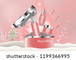 beauty product  pink cosmetic... | Shutterstock .eps vector #1199366995