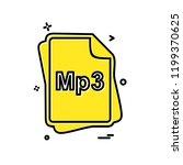 mp3 file type icon design vector | Shutterstock .eps vector #1199370625