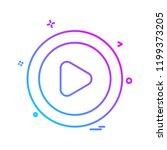 play button icon design vector | Shutterstock .eps vector #1199373205