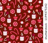 christmas seamless pattern with ... | Shutterstock .eps vector #1199375242