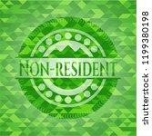 non resident green emblem....   Shutterstock .eps vector #1199380198