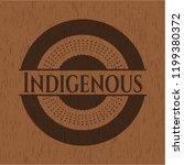 indigenous vintage wood emblem   Shutterstock .eps vector #1199380372