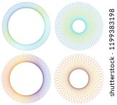collection of 4 gradient colour ... | Shutterstock .eps vector #1199383198