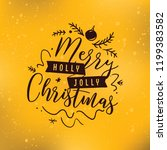 merry christmas. typography.... | Shutterstock .eps vector #1199383582