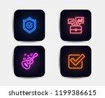 neon glow lights. set of...   Shutterstock .eps vector #1199386615