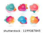 dynamic liquid shapes. set of... | Shutterstock .eps vector #1199387845