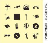 summer icon. summer vector... | Shutterstock .eps vector #1199391442