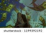 2d illustration. imaginary... | Shutterstock . vector #1199392192