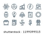 energy related line icon set.... | Shutterstock .eps vector #1199399515