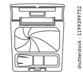 line art black and white...   Shutterstock .eps vector #1199399752