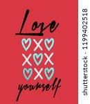 love yourself slogan   Shutterstock .eps vector #1199402518