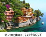 seaside villas near portofino... | Shutterstock . vector #119940775