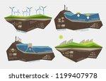 set of infographic... | Shutterstock .eps vector #1199407978