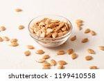 roasted untreated pumpkin seeds ... | Shutterstock . vector #1199410558
